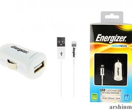 iPhone 5 üçün Energizer Hightech 2.1A  avtomobil adapteri