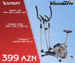 Elliptik trenajor VOLKS GYM E-50S