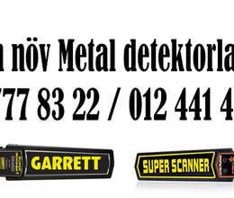 Garrett ve Super Scanner metal detektorlar