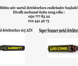 Super Scanner ve Garrett metal detektorları