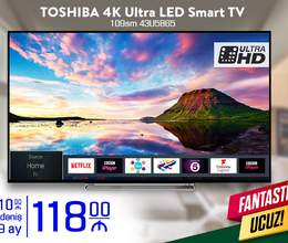 Toshiba 109 Ekran 4K Ultra HD LED Smart Tv Kreditlə Arayışsız Zaminsiz